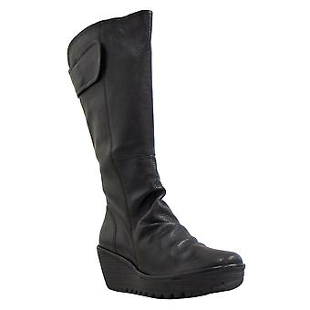 Fly Womens Knee Boot Yulo Black