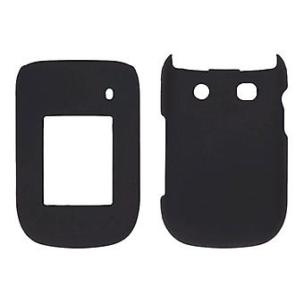 Sprint Two piece Soft Touch Snap-On Case for BlackBerry Style 9670 - Black