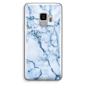 Samsung Galaxy S9 Transparent Case (Soft) - Blue marble