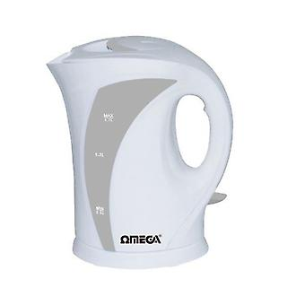 Omega 30006 White 2200W 1.7L Cordless Electric Jug Kettle
