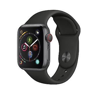Apple Watch serie 4 Space grijs Aluminium behuizing met zwarte Sport Band GPS Celluar 40mm