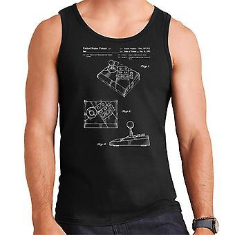 Nintendo NES Advantage Controller Patent Blueprint Men's Vest