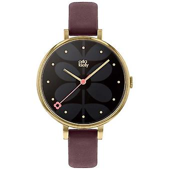 Orla Kiely | Ladies Ivy | Large Dial | Gold Case | Purple Strap | OK2262 Watch