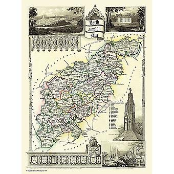 Map of Northamptonshire 1836 by Thomas Moule 1000 Piece Jigsaw Puzzle (jg)