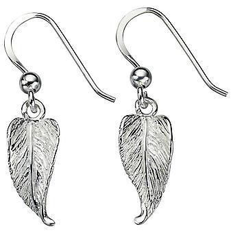 Beginnings Leaf Drop Earrings - Silver