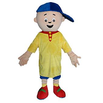 SPOTSOUND boy mascot, in yellow and blue outfit