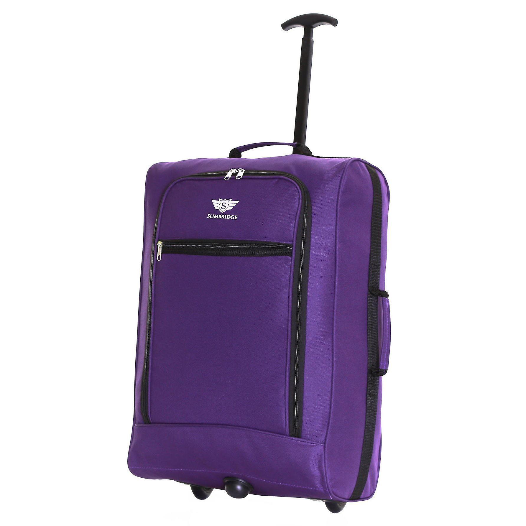 Slimbridge Montecorto Set of 2 Cabin Luggage Bags, Purple (SET OF 2)