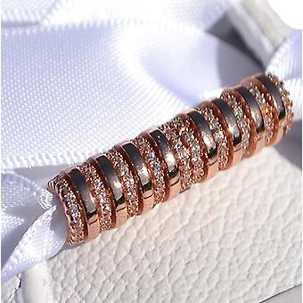 Rose Gold Toggle Tube Shoe Charm