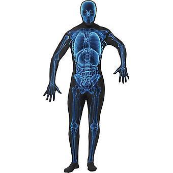 X-Ray Kostüm, zweite Haut Anzug.  Brust 46