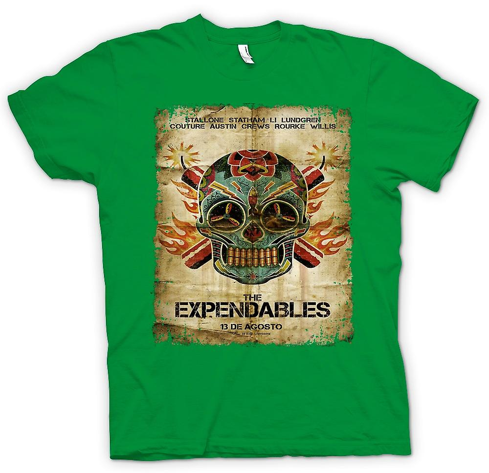 Mens t-shirt-il Poster di Expendables - B Movie-