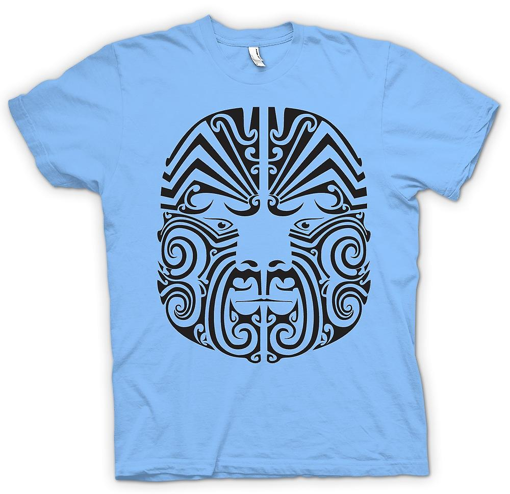 Mens T-shirt-Mauri Tribal Tattoo-Design