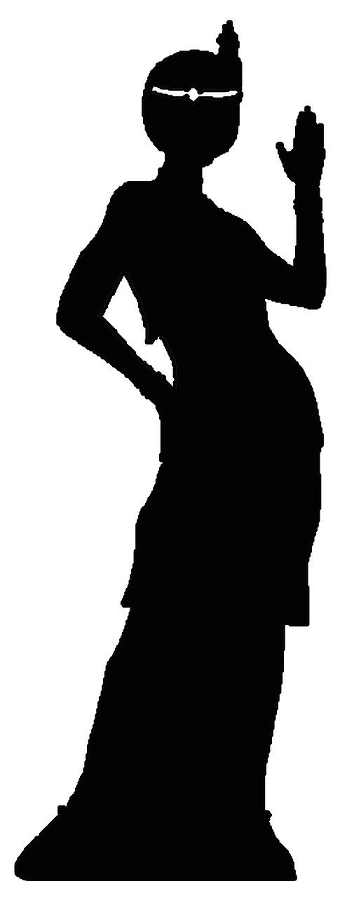 Flapper Girl silhouette - Lifesize Cardboard Cutout / Standee
