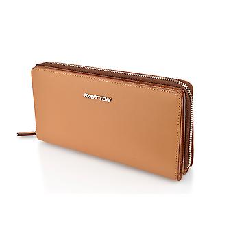 Hautton Leather Tan Clutch Style Wallet 7.5
