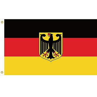 Large German National Flag with Rings 90x150cm Hanging Banner for World Cup Euro Championship Sporting Events TRIXES
