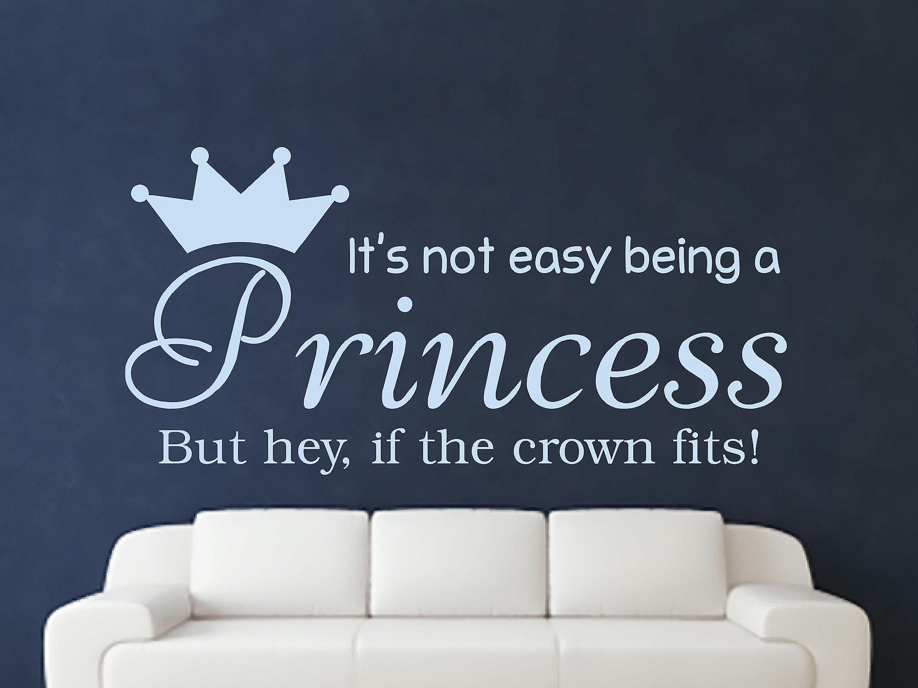 Being A Princess Wall Art Sticker - Pastel Blue