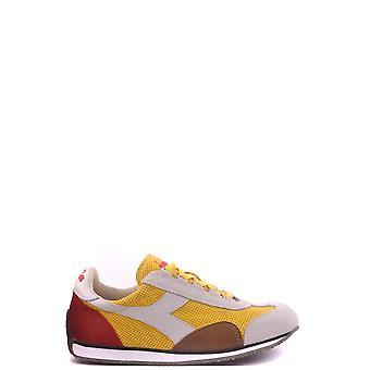 Diadora Yellow Leather Sneakers