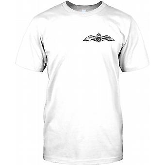 RAF Pilot Wings - Chest Logo Mens T Shirt