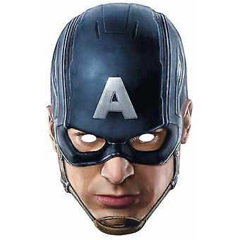 Capitão América Vingadores idade de Ultron único cartão partido máscara