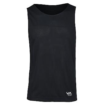RVCA Mens VA Sport Runner Tank Top - Black