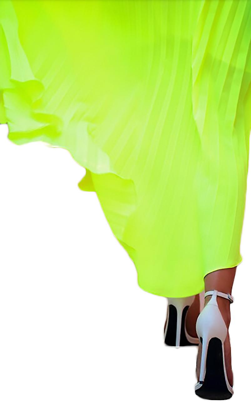 Pleated Dress fluorescent Siria