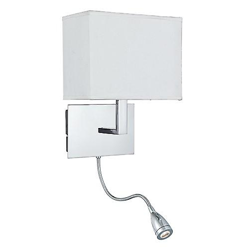 Searchlight 6519CC Wall Light Chrome With Led Flexi Arm