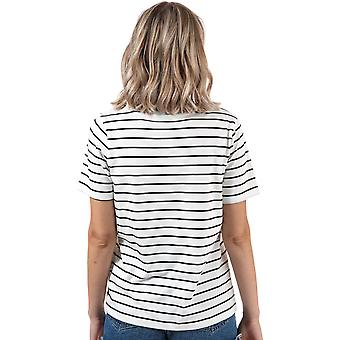 Womens Only Mona Striped T-Shirt In Cloud Dancer