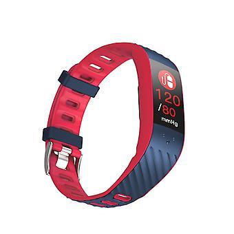 P4 Aktivitetsarmband med blodtrycks- och pulsmätare - Röd