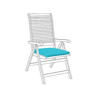 Gardenista® cuscino di seduta resistente all'acqua turchese, confezione da 8