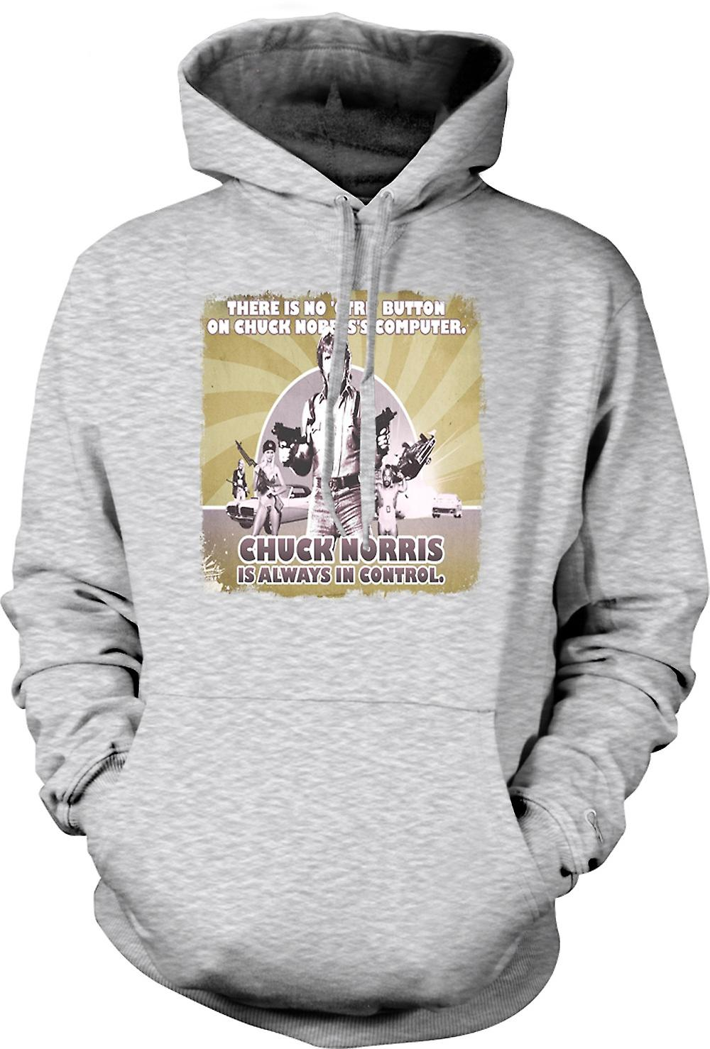 Mens Hoodie - Chuck Norris Is Always In Control