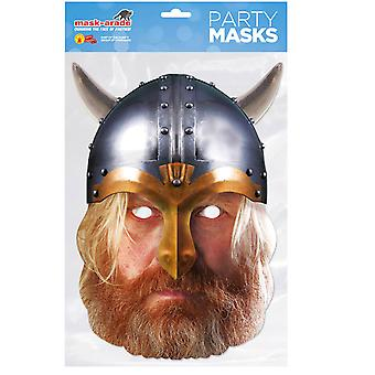 Viking Historical Single 2D Card Party Face Mask