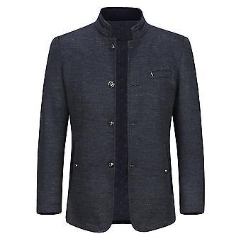 Allthemen Men's Business Casual Stand Collar Cappotto spesso spesso