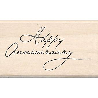Inkadinkado Wood Mounted Rubber Stamp Ll Happy Anniversary Stampll 97219
