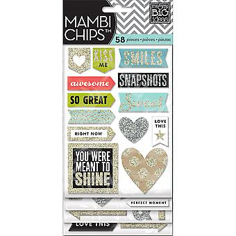 Mambi Chipboard Stickers 4 Sheets Love This Cbvx16