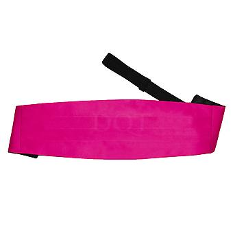 Hot Pink Plain Satin Cummerbund