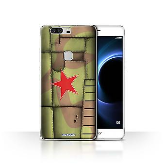 STUFF4 Case/Cover for Huawei Honor V8/Soviet/Green/Airplane Fighter Wing