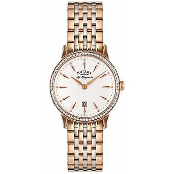 Rotary Womens Les Originales Two Tone White Dial LB90057/06 Watch