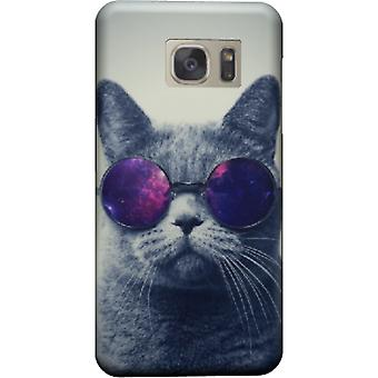 Cover cat with glasses for Galaxy S7 Edge