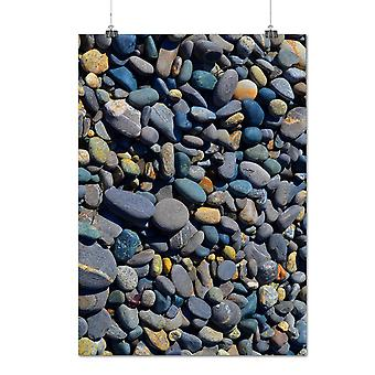Matte or Glossy Poster with Rock Coast Sea Art Nature Small Rocks | Wellcoda | *q1282