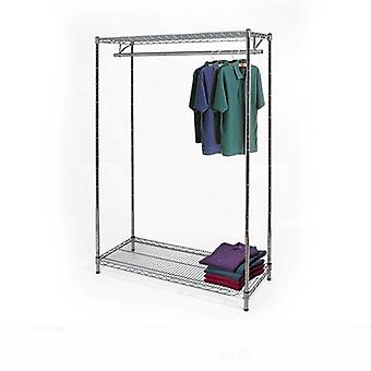 Wire Chrome Shelving Kit - 1 Tier Clothes Rail & 2 Shelves - CWCR101