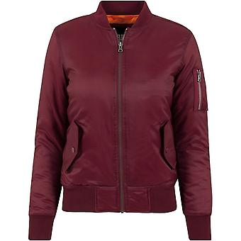 Urban classics ladies - BASIC BOMBER jacket burgundy