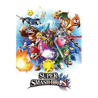 Supersmash Bros Gaming affisch affisch Skriv