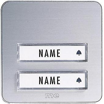 Bell panel with nameplate 2x m-e modern-electronics KTA-2 A/S Silver 12 V/1 A