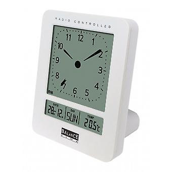 Balance Radio-Controlled Alarm Clock Digital White
