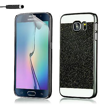 Glitter in caso + stilo per Samsung Galaxy S7 bordo SM-G935 - nero