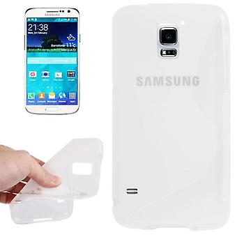 Silicone case S-line transparent for Samsung Galaxy S5 mini