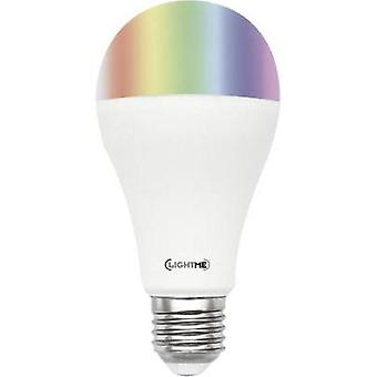 LED E27 arbitraria 10 W = 60 W RGBW (Ø x L) 65 x 130 mm EEC: A + LightMe incl. cambiando de color, regulable, contro remoto