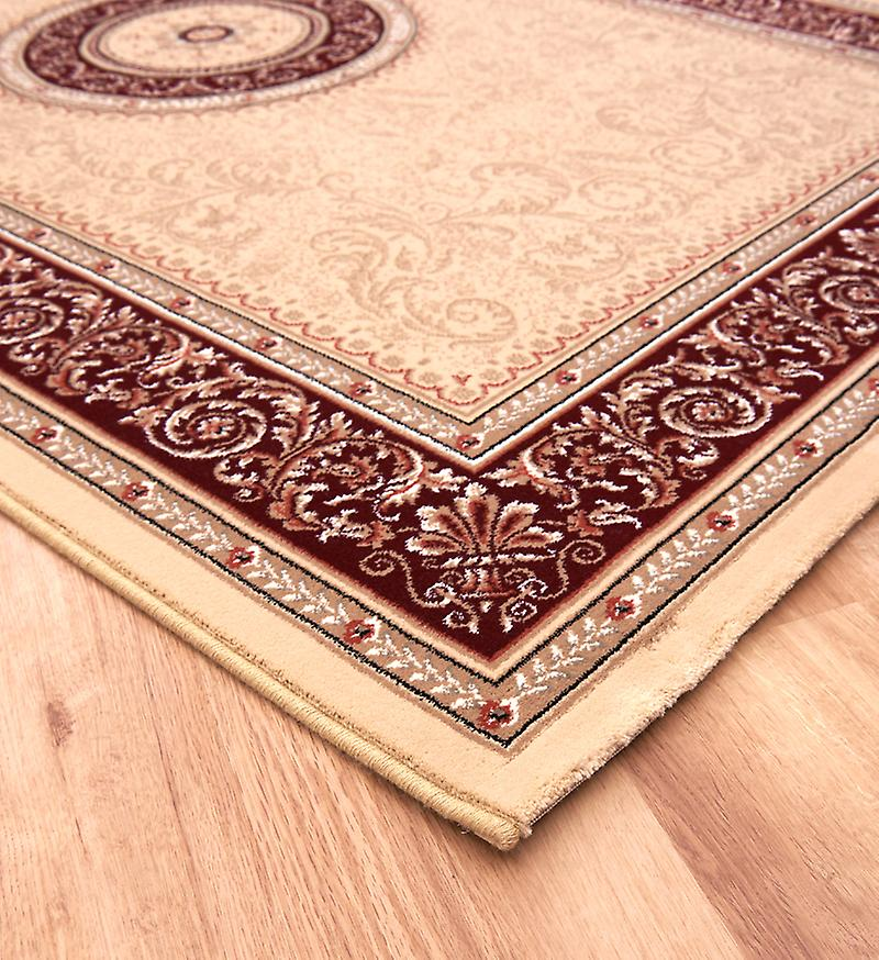 Noble Art 6572-191 Light beige ground with deep red centre Rectangle Rugs Traditional Rugs