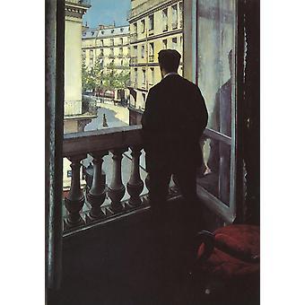 Gustave Caillebotte - Man at the Window Poster Print Giclee
