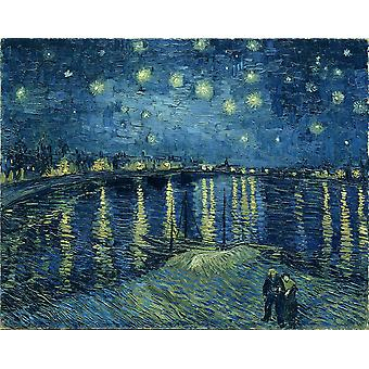 Vincent Van Gogh - Starry Night over the Rhone, 1888 Poster Print Giclee