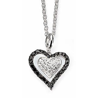 925 Silver zirconia Heart for Necklace